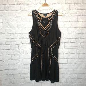 Anthro Greylin black sequin cutout dress